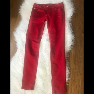 Pants - Excellent Used Condition Celebrity Red Skinny Pans